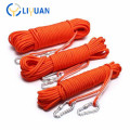 High strength dynamic climbing rope
